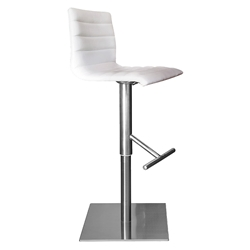 Jamie White Adjustable Modern Stool