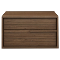 Modloft Jane Left-Facing Walnut Modern Nightstand