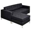 Jane Contemporary Loft Bi-Sectional Sofa in Laurentian Onyx by Gus* Modern