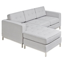 Jane Contemporary Loft Bi-Sectional Sofa in Oxford Quartz by Gus* Modern