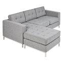 Jane Contemporary Loft Bi-Sectional Sofa in Parliament Stone by Gus* Modern