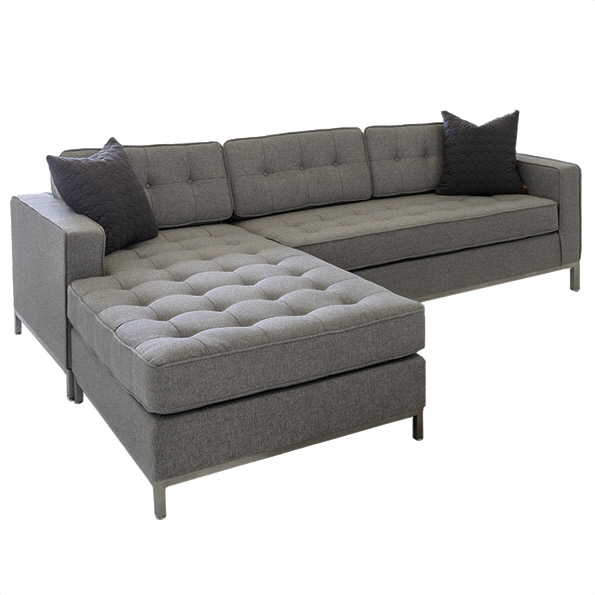 Jane Loft Bi Sectional Sofa In Totem Storm Fabric