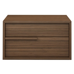 Modloft Jane Right-Facing Walnut Modern Nightstand