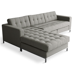 Jane Contemporary Bi-Sectional in Totem Storm