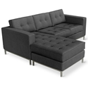 Jane Contemporary Loft Bi-Sectional in Urban Tweed Ink
