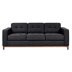 Jane Contemporary Walnut Base Sofa in Laurentian Onyx by Gus! Modern