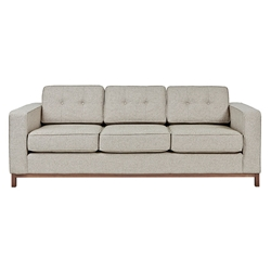 Jane Contemporary Walnut Base Sofa in Leaside Driftwood by Gus* Modern