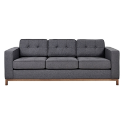 Jane Contemporary Walnut Base Sofa in Urban Tweed Ink by Gus* Modern