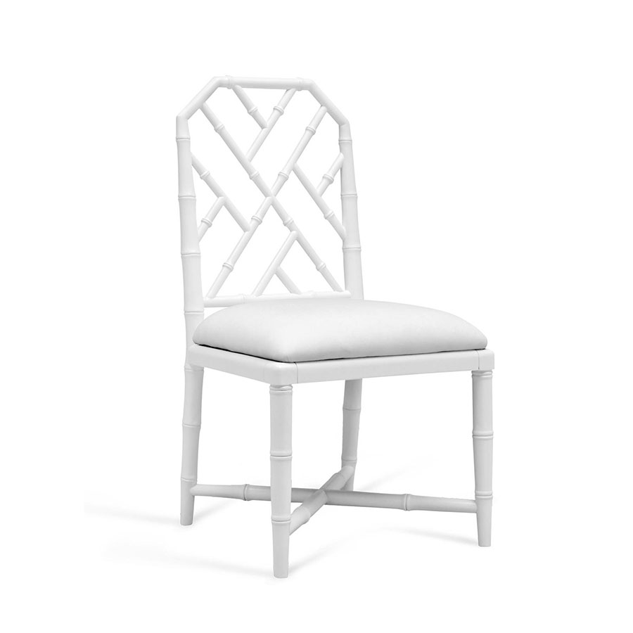 Jardin White Contemporary Dining Chair