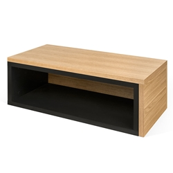 Jazz Black + Oak Modern Adjustable Coffee Table
