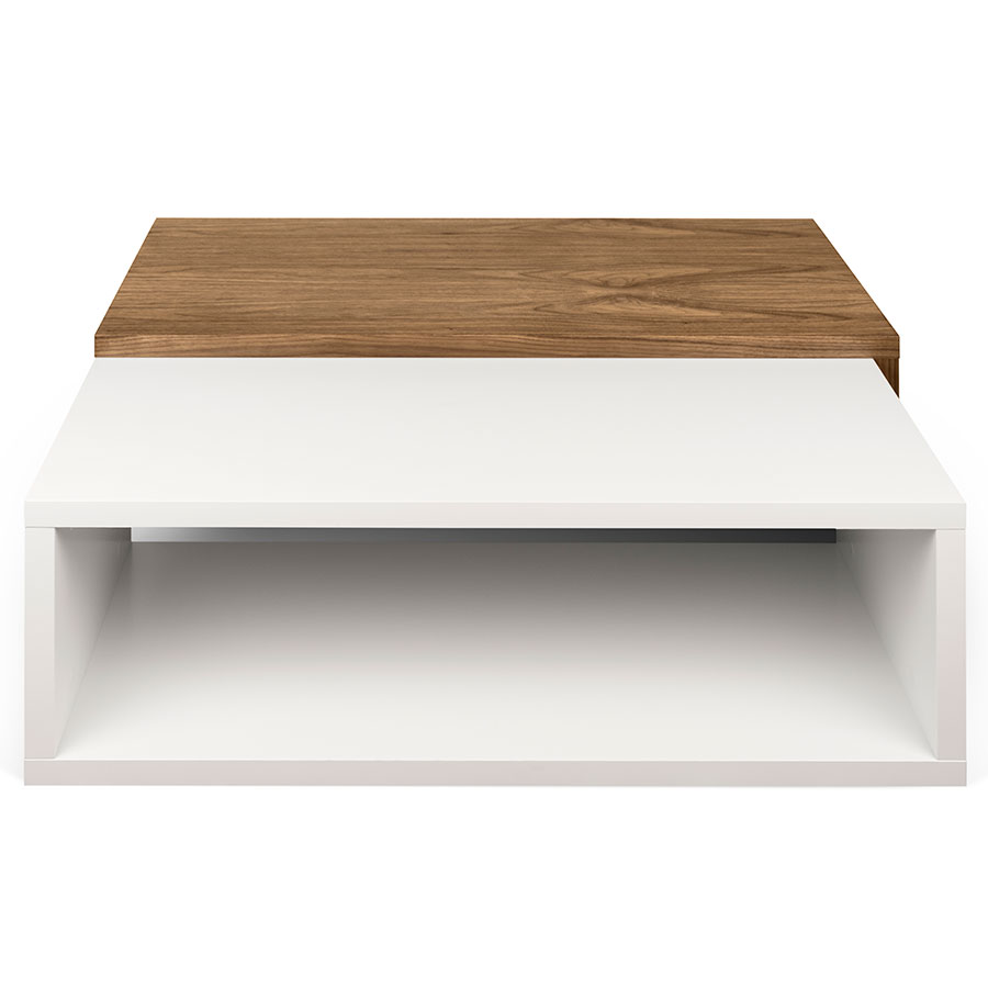 Jazz white walnut modern coffee table by temahome eurway for White designer coffee table
