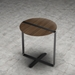Modloft Black Jones Modern Side Table in Walnut and Steel - Room Setting, Above