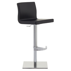 June SGT Adjustable Bar Stool in Black by Pezzan