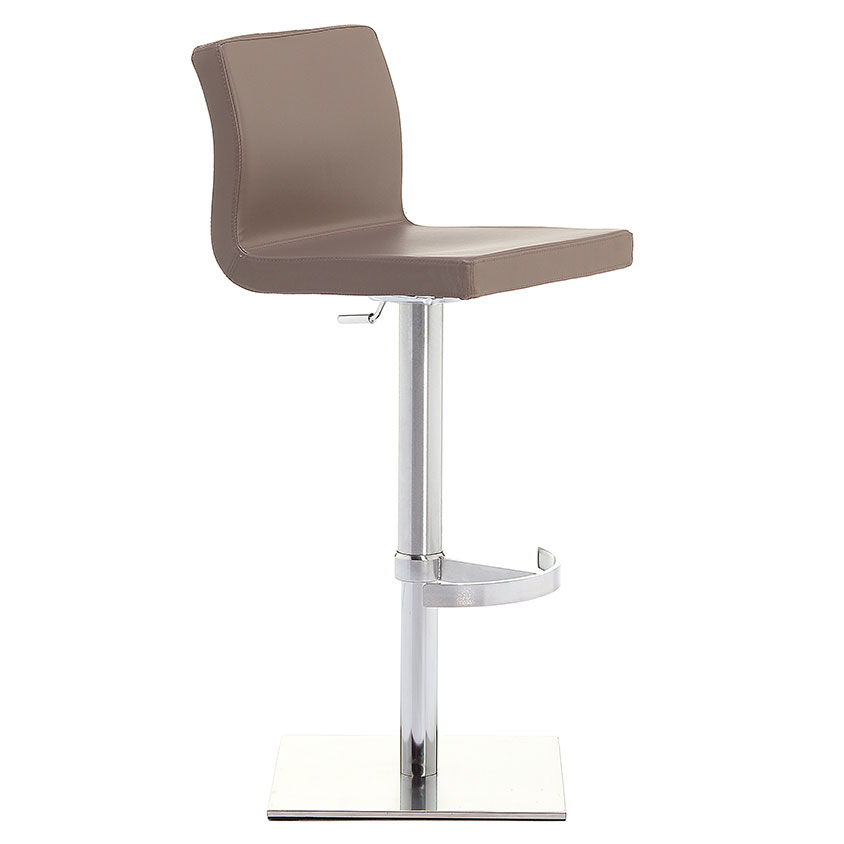 June SGT Adjustable Bar Stool in Taupe by Pezzan