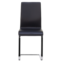 June Black + Chrome Modern Side Chair by Pezzan