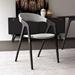 Modloft Kaede Black Oak + Gray Andorra Wool Modern Dining Chair - Room Setting
