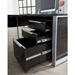 Kalmar Modern Espresso 3-Drawer File Cabinet - Open Drawers