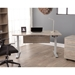 Kalmar Modern Gray Washed and Silver Standing Desk