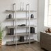 Kalmar Contemporary 59x80 Open Gray Washed Bookcase