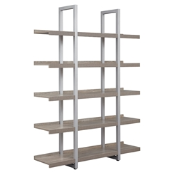 Kalmar Modern 59x80 Open Gray Washed Bookcase