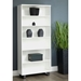 Kalmar Modern White + Gray 72 in. Tall Bookcase