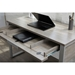 Kalmar Modern Home Office Desk in Gray - Open Drawer