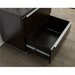 Kalmar Modern Lateral File Cabinet in Espresso - Open Drawer