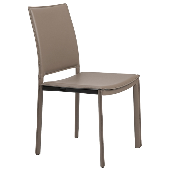 Kamusi Modern Taupe Side Chair