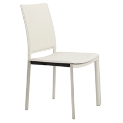 Kamusi Modern White Side Chair