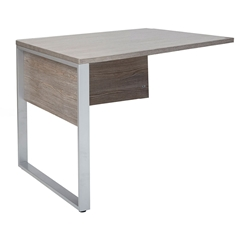 Kalmar Modern 32 Inch Return Desk - Gray Laminate