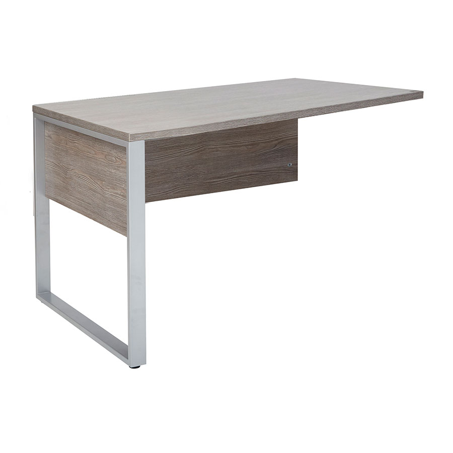 Karlstad Modern 47 Inch Return Desk - Gray Laminate