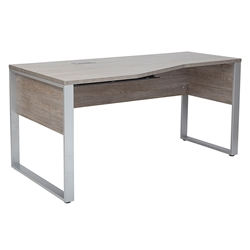 Karlstad Modern 63 In Left Crescent Gray Desk