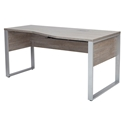 Karlstad Modern 63 In Rt Crescent Desk Gray Laminate