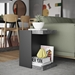 Klaus Modern Concrete-Look Side Table by TemaHome