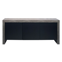 Kobe 3 Door Sideboard Concrete