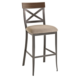 Kyle Transitional Bar Stool by Amisco