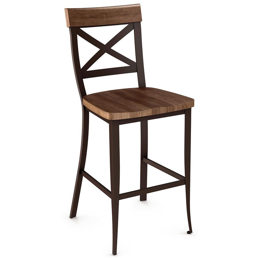 Kyle Wood Bar Stool By Amisco Collectic Home
