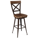 Kyle Wood Swivel Bar Stool by Amsico