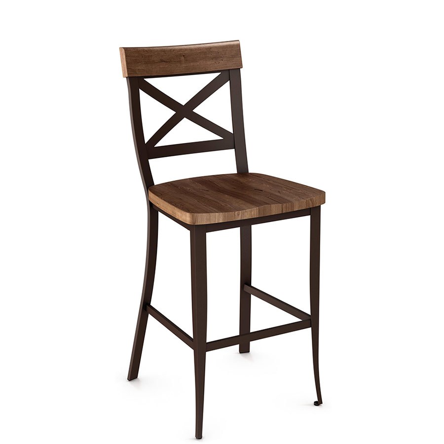Wood Stools Product ~ Kyle wood counter stool by amisco collectic home