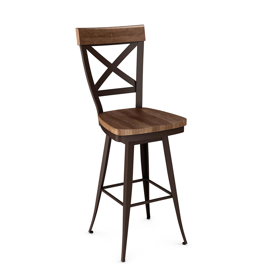 Kyle Wood Swivel Counter Stool by Amsico