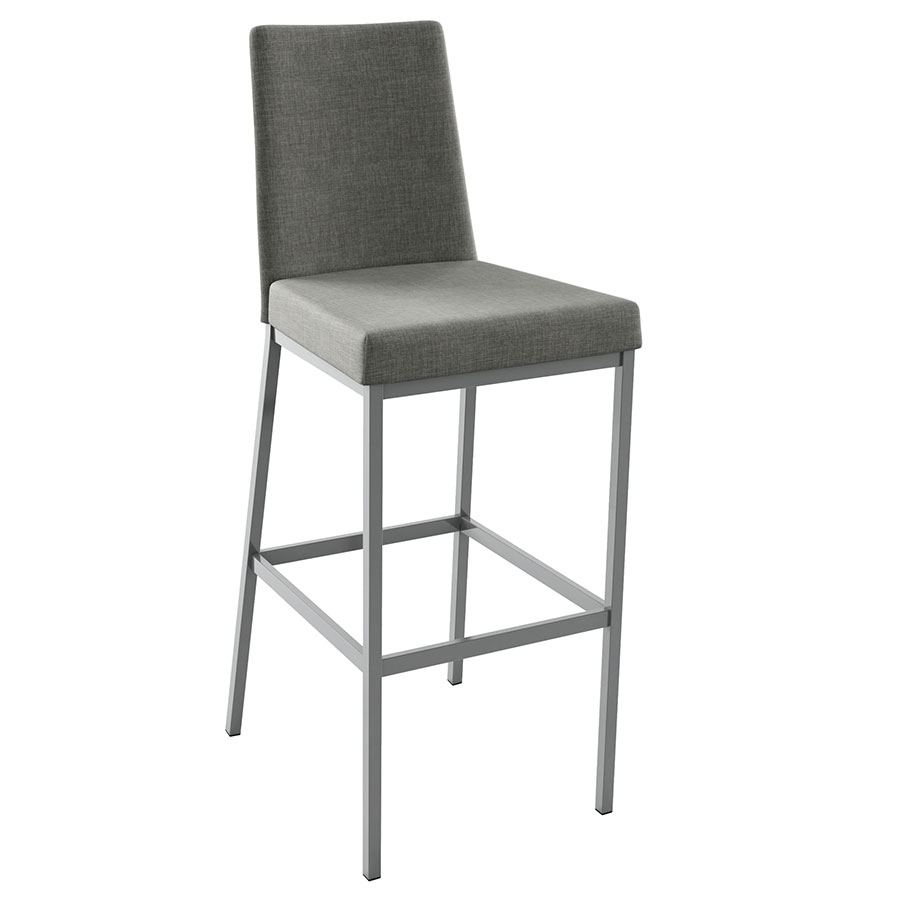 Linea Modern Bar Stool in Magnetite and Ritzy by Amisco