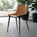 Modloft Black Langham Modern Dining Chair in Aged Caramel Leather - Lifestyle