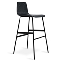 Lecture Modern Black Ash Bar Stool by Gus Modern
