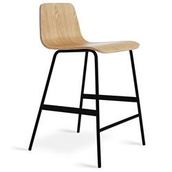 Lecture Contemporary Counter Stool by Gus Modern in Natural Ash
