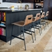 Lecture Walnut + Black Counter Stool by Gus Modern