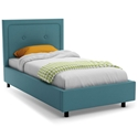 Legend Contemporary Twin Bed in Sky by Amisco