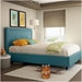 Legend Contemporary Bed by Amisco in Sky