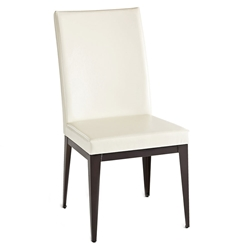 Leo Modern Dining Chair by Amisco in Oxidado + Eggshell