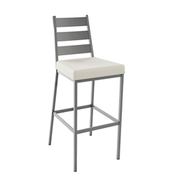 Level Counter Stool Shown in Magnetite and Blizzard by Amisco