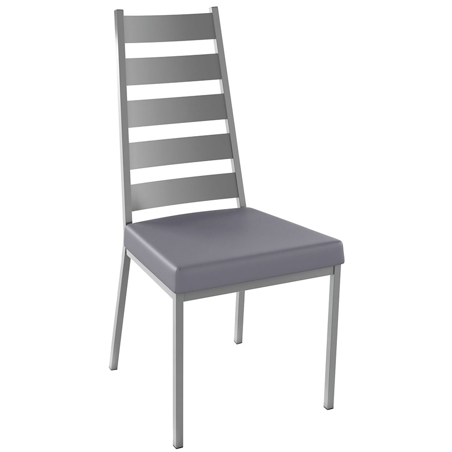 Level Dining Chair Shown in Magnetite and Pewter by Amisco